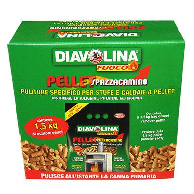 Sredstvo za čišćenje kotlova na pelete Diavolina Pellet Spazzacamino