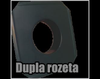 Crna čelična dimna dupla rozeta