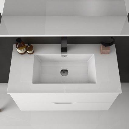 Aquaestil Jana bijela ormarić sa umivaonikom